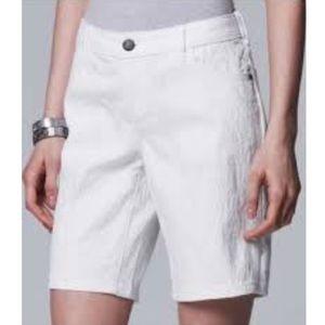 Simply Vera Vera Wang White midi shorts